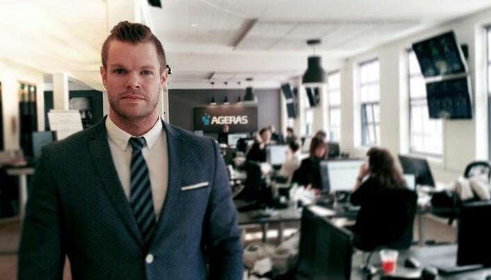 Ageras har nå åtte ansatte på sitt kontor på Skøyen i Oslo. Her visedirektør Jonathan Magnussen, sjef for Norgeskontoret.