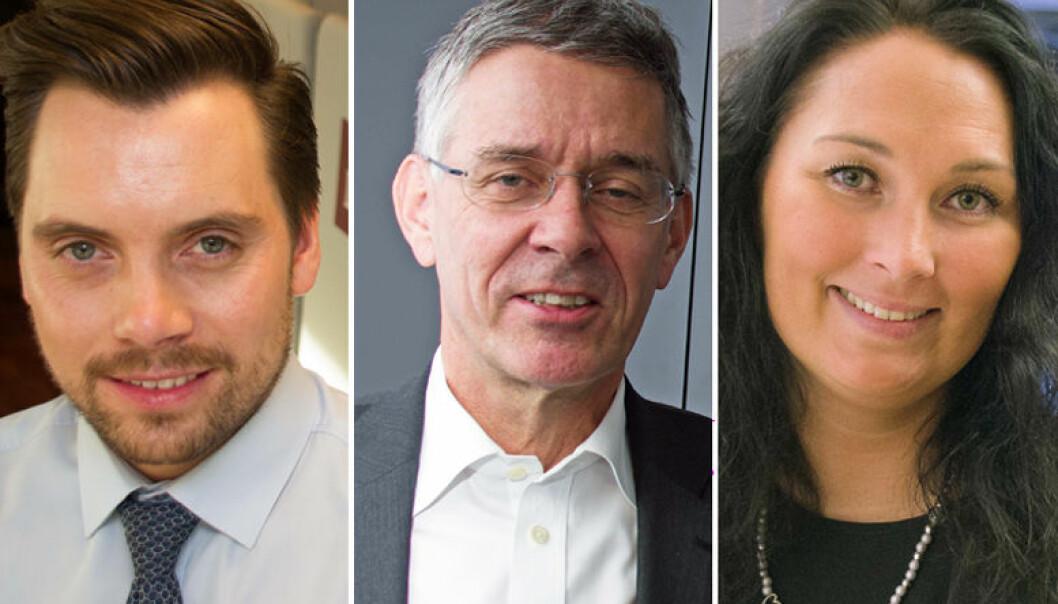 Håvard Wiig Andersen,  Christian Fredrik Michelet og Cecilie Langva deler sine erfaringer med å starte eget foretak.