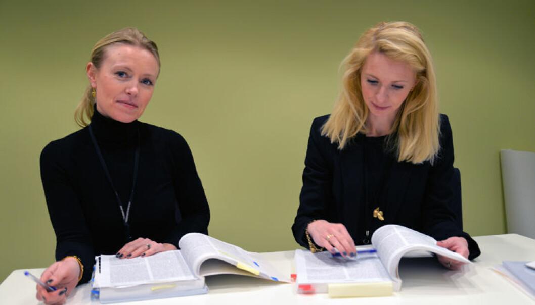– Vi synes det er veldig gøy å jobbe med en sak som vekker så stort engasjement, sier Anette Bleikelia Musæus og Ingeborg Gjølstad.