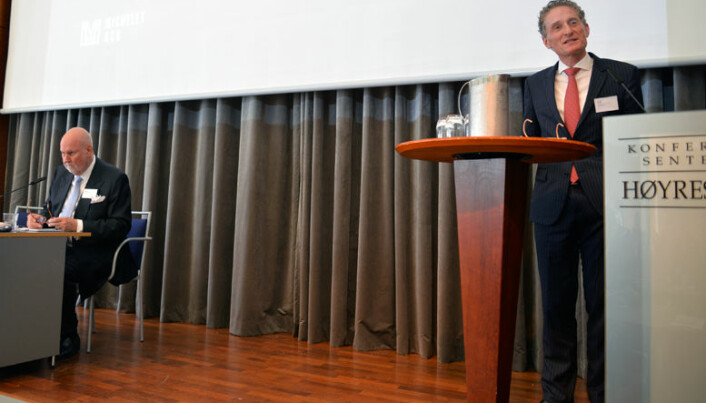 Thomas Nordby, tidligere ansatt i EFTA-domstolen, nå advokat i Michelet & Co, ledet møtet.