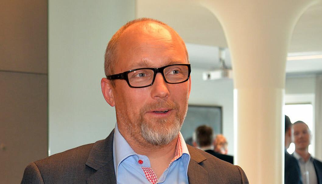 Her er Borgar Høgetveit Berg ved lanseringen av boken «Avtalt prosess – voldgift i praksis», der han er en av to redaktører. Foto: Ida Moen Ødegård