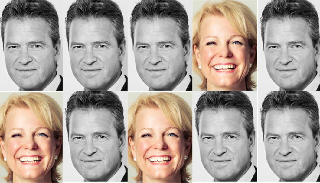 Bare tre av ti advokater er kvinner, viser ferske tall. Her representert ved generalsekretær Merete Smith og leder Jens Johan Hjort i Advokatforeningen.