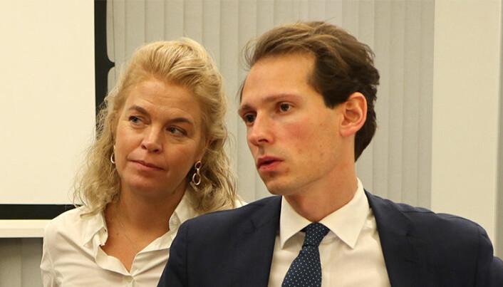 Cathrine Hambro, partner i Wahl-Larsen advokatfirma, og senioradvokat Emanuel Feinberg i Glittertind, representerer Greenpeace Norden og Natur og Ungdom.