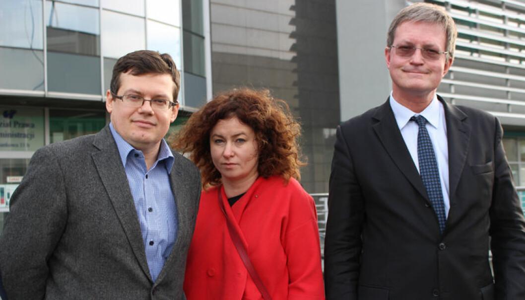 Krystian Markiewicz, leder av Polens største dommerforening, dommer Katarzyna Gajda og advokat Jędrzej Klatka er bekymret for rettssikkerheten.