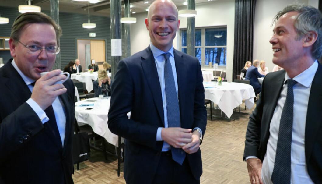 Morten P. Smørdal fra BAHR, Thommessens Sverre Tyrhaug og Morten Goller fra Wiersholm har alle grunn til å smile etter årets Legal500-kåring. Her fra en tidligere anledning.