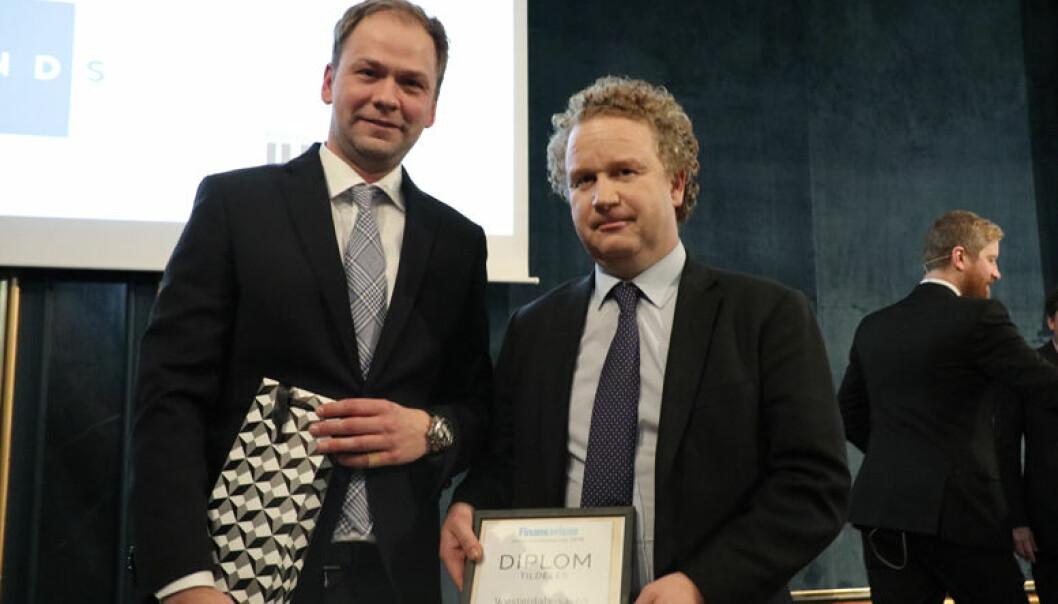 SANDS ble onsdag hedret for sin innsats i Westerdals-saken.  Partnerne Lars Tormodsgard og Morten Hugo Berger var tilstede for å motta prisen.