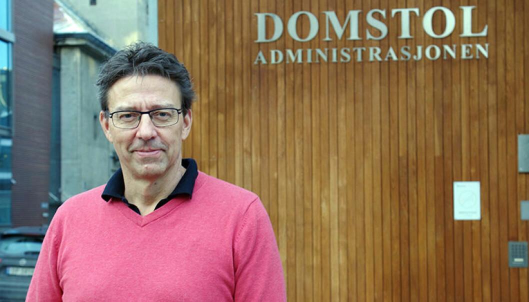 SAVNER 17 MILLIONER: Domstolsadministrasjonen trenger 30 millioner til fornyelse av teknisk utstyr, sier Iwar Arnstad, kommunikasjonsdirektør i DA.