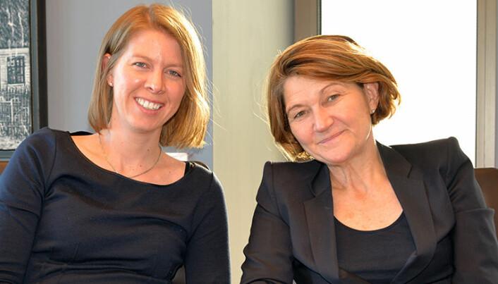 Advokaters jobb er å være litt skeptiske. Dette tankesettet må de også ha i nye klientrelasjoner for å forhindre hvitvasking, sier Kristine Frivold Rørholt (t.v.) og Susanne Munch Thore i Wikborg Rein.