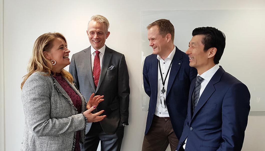 Beate Fahre, John G. Flatabø, Tommy Christiansen og Joakim Bakke-Nielsen i det ferske firmaet IBF Legal.