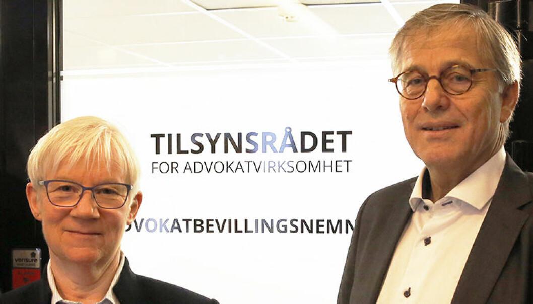 Direktør Hege Bjølseth og styreleder Thomas Smedsvig i Tilsynsrådet har lansert en digital løsning for innsending av regnskap og egenerklæring.