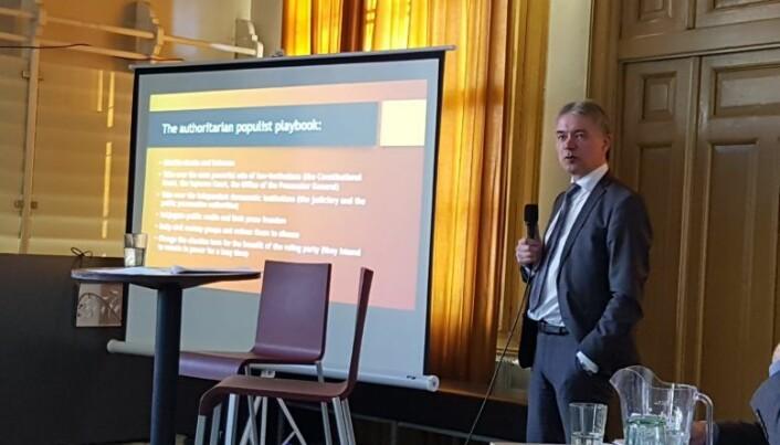 <html><head></head><body> Nils Asbjørn Engstad var blant foredragsholderne under arrangementet.</body></html>