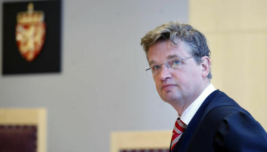 Forsvarer Trygve Staff under rettssaken mot Geir Selvik Malthe-Sørenssen. Foto: Cornelius Poppe / NTB scanpix