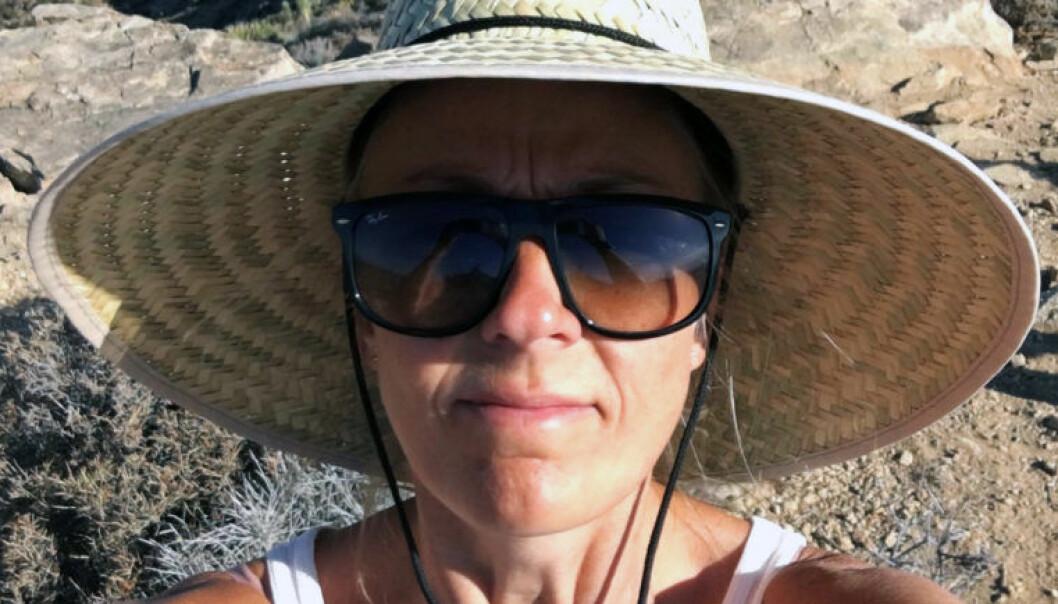 """Det er lite som skal til for at Telenor-advokat Siri Birgitte Bang Berge får en god sommer, men saltvann er et """"must"""". FOTO: Privat"""