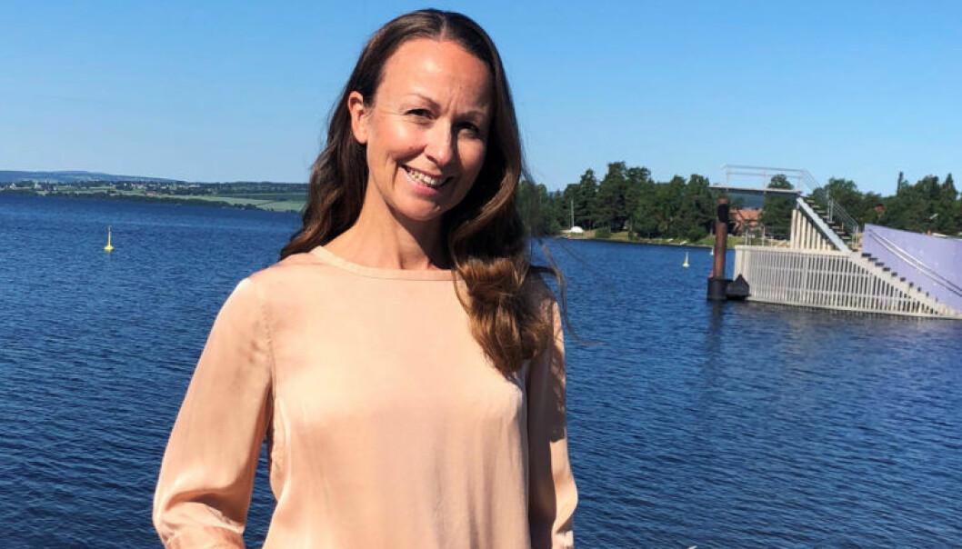 Barn som lukter solkrem og fryseren full av SunLolly betyr ferie for Mageli-advokat Birgitte Bie Mørkved. FOTO. Privat