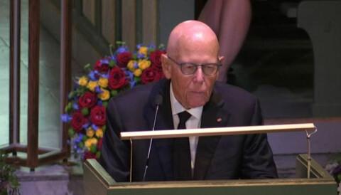 Begravelse Thorvald Stoltenberg