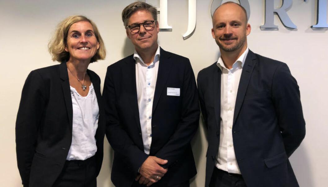Kristin Veierød, Petter Enholm og Eivind Grimsø Moe ledet seminaret om digitale trender og rettslige utfordringer.