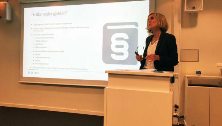 <html><head></head><body> Kristin Veierød er partner i advokatfirmaet Hjort.</body></html>