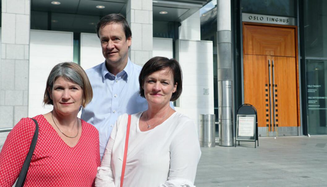 Forsvarsadvokatene John Christian Elden og Mette Yvonne Larsen (t.h.) er kritisk til en rekke av punktene i Lime-dommen, mens bistandsadvokat Else McClimans er langt mer positiv.