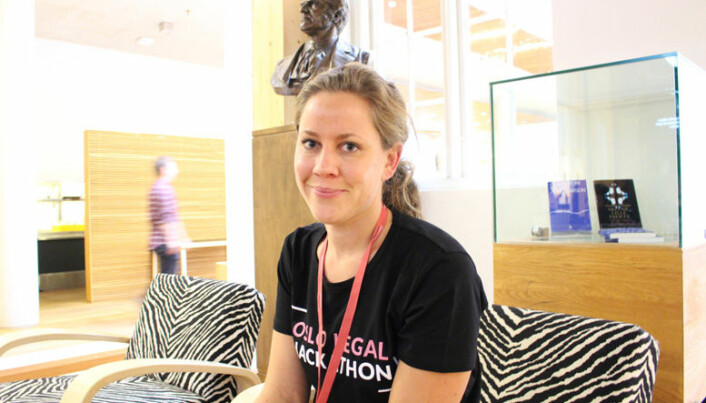 Legal tech-gründer og tidligere advokat Merete Nygaard var initiativtager til Oslo Legal Hackathon som ble arrangert i fjor. Foto: Henrik Skjevestad