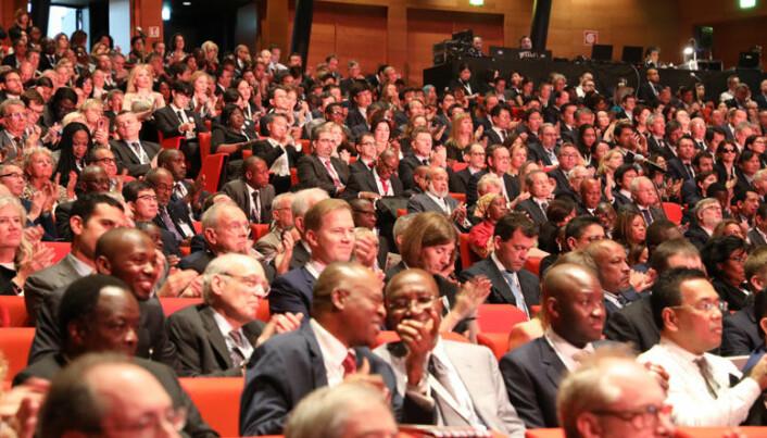 Den årlige IBA-konferansen er verdens største møteplass for advokater. Her fra åpningen av fjorårets konferanse i Roma. Foto: IBA