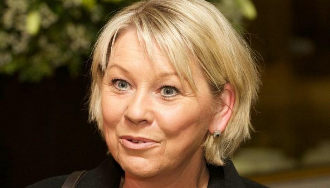 Monica Mæland (H) er kommunal- og moderniseringsminister. Foto: Wikimedia Commons/Kjetil Ree
