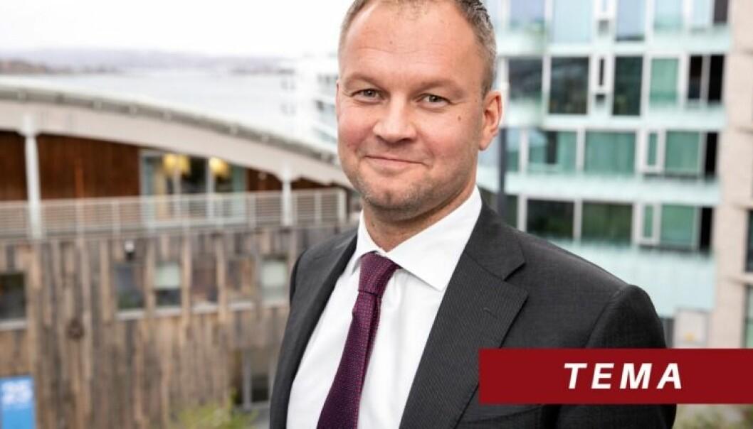 Øystein Myre Bremset jobber til daglig med entreprise og tvisteløsning i BAHR. Han startet i BAHR i 2010, og ble partner i firmaet i 2018. Han har tidligere blant annet jobbet i Brækhus. Foto: Andreas Fadum