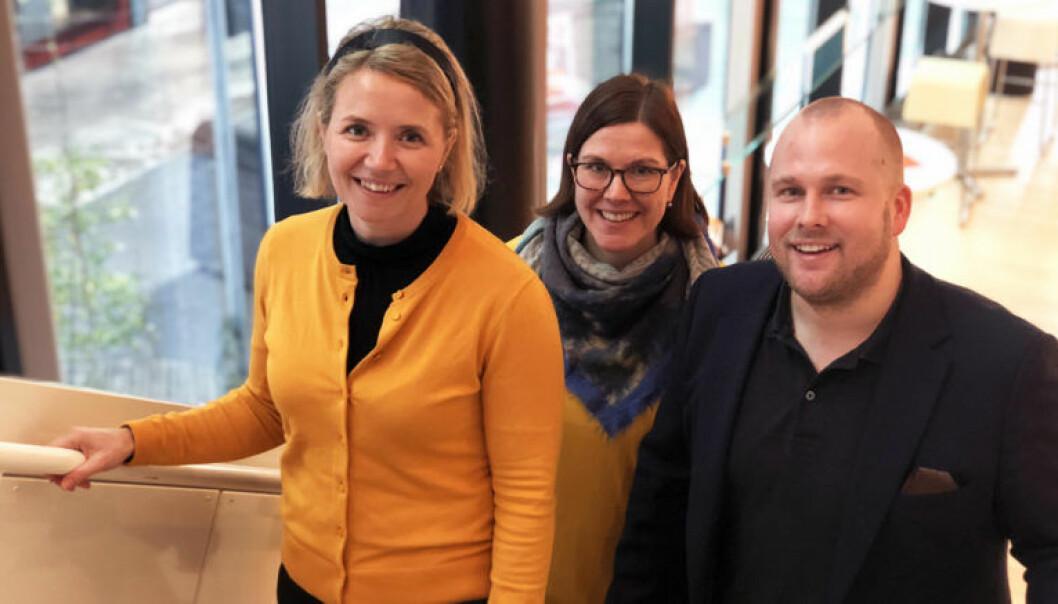 Partner Marit Barth, partner Trine Agathe Lorentzen og manager Øystein Tungen har alle vært med på å utvikle PwC-produktet TaxTech.