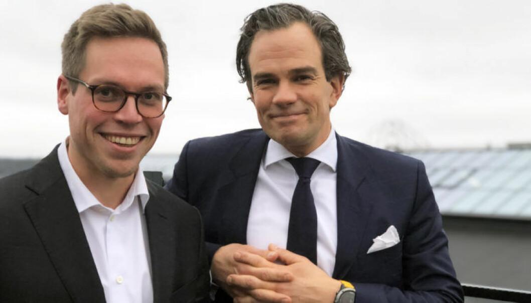 Forretningsutvikler Fredrik Hollen og partner Christian Hauge har ledet Wiersholms utvikling av Dispute Control.