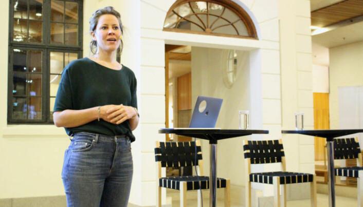 """<html><head></head><body> Merete Nygaard, gründeren av Lawbotics, omtalte onsdagens meet up som en """"drømmedebatt"""".</body></html>"""