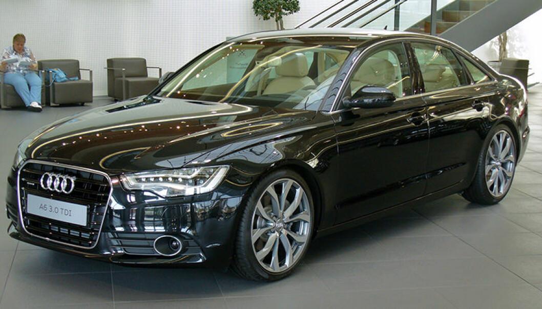"""Saken handler om kjøp av en bil av denne typen, en Audi AG 3,0 Tdi Quattro Tiptronic. Illustrasjonsfoto: <a href =""""https://upload.wikimedia.org/wikipedia/commons/6/61/Audi_A6_Limousine_3.0_TDI_Havannaschwarz.JPG"""">Thomas Doerfer, Wikimedia Commons</a>"""