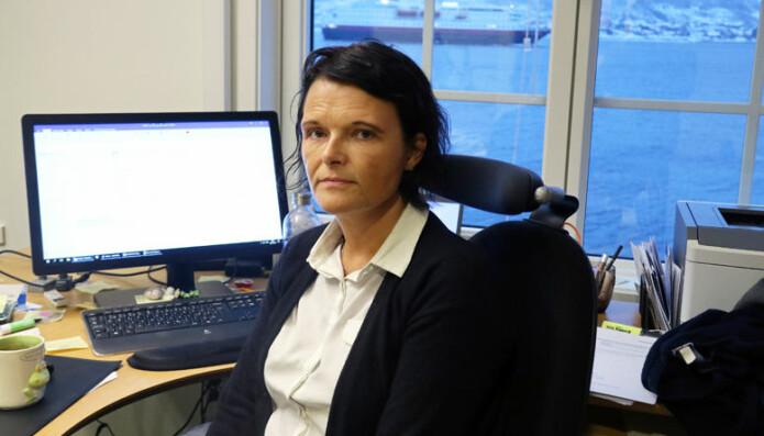 Leder av Midt-Hålogaland krets, Trude Marie Wold, er hverken fornøyd med eller overrasket over økningen av salærsatsen i statsbudsjettet for 2020. Foto: Henrik Skjevestad