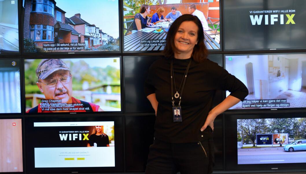 Telia-advokat Laila Myksvoll jobber i et sammensatt fagteam, og synes det er spennende å jobbe med innovasjon i et selskap som har en kultur og et verdigrunnlag hun identifiserer seg med. Foto: Nina Schmidt