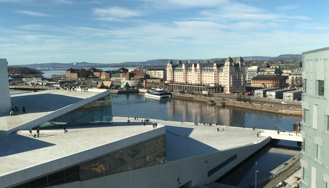 Upåklagelig utsikt mot Operaen og Oslos sjøside fra Ræders nye lokaler.