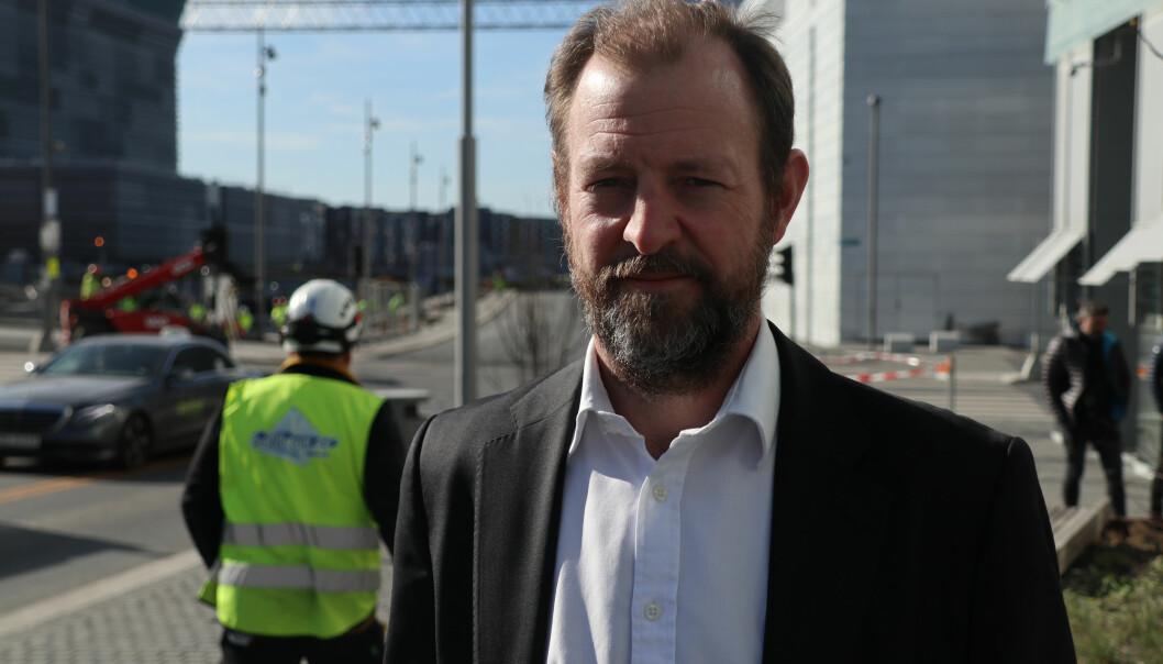 Ræder-partner Fredrik Ottesen er godt tilfreds med nye omgivelser i Bjørvika.