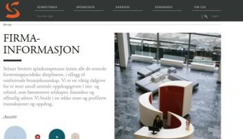 """Advokatfirmaet Selmer får ros for et bilde av resepsjonen utformet som en stor """"S"""". Foto: Skjermdump"""