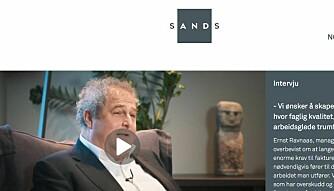SANDS har videointervju med Ernst Ravnaas. Foto: Skjermdump