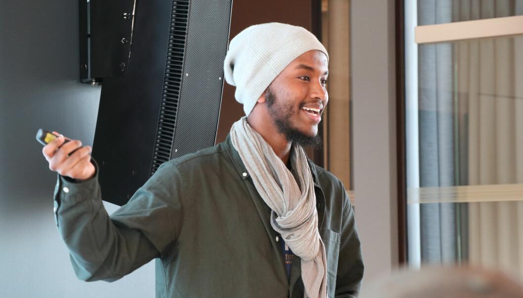 Nestleder i Mino.Jur, Mahir M. Osman, var blant innlederne under samlingen for minoritetsstudenter hos Wikborg Rein i forrige uke.