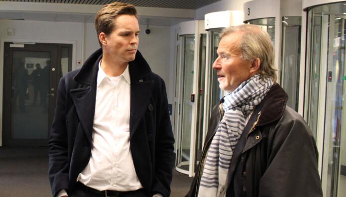 Marius Dietrichson og Frode Sulland mener Borgarting lagmannsrett utfordrer prinsippet om at  folket skal ha en avgjørende stemme i retten. Foto: Henrik Skjevestad