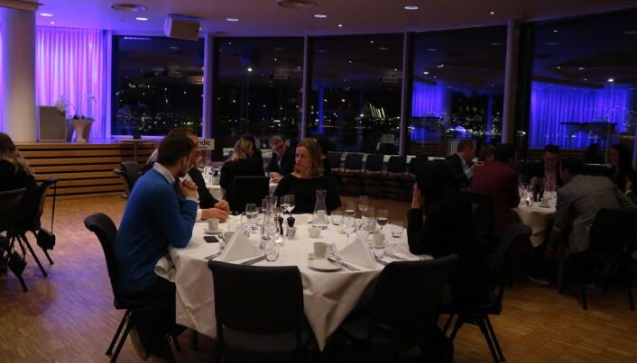 Totalt var det rundt 50 av Troms krets' medlemmer som deltok på middagen etter årsmøtet.