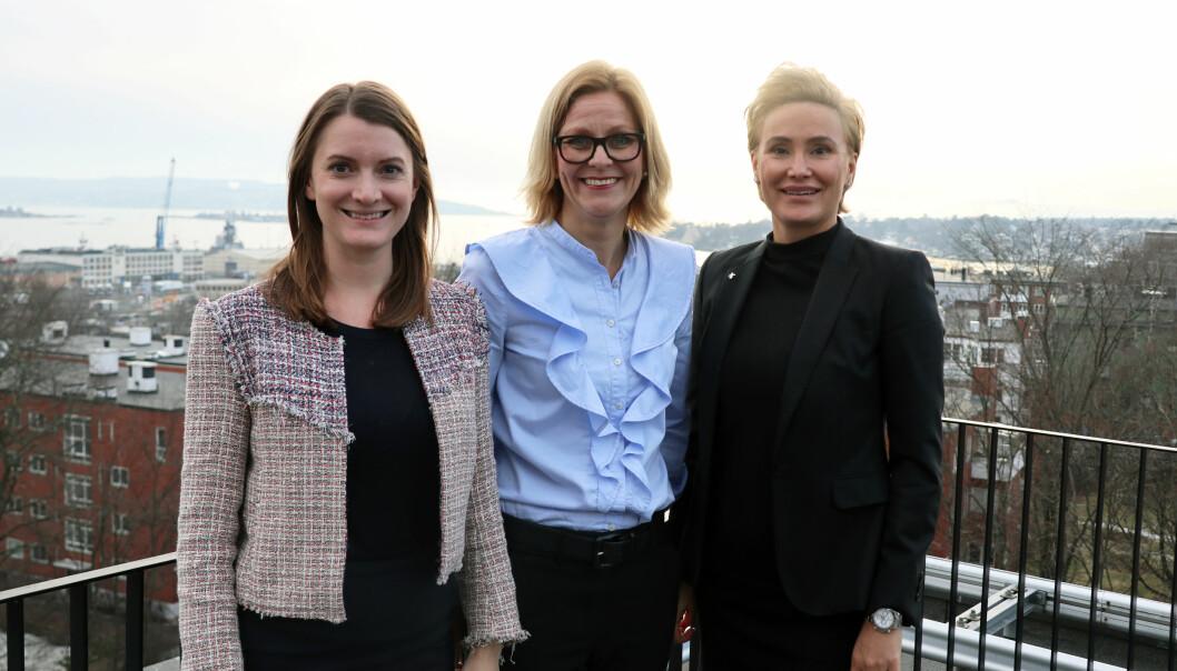 Partner Jenny Sveen Hovda, daglig leder Tine Engstrøm Wærsten, og partner Saloume Djoudat arbeider i et av de mest mangfoldige mellomstore advokatfirmaene i landet. Nå har de satt et klart mål om å øke kvinneandelen ytterligere.