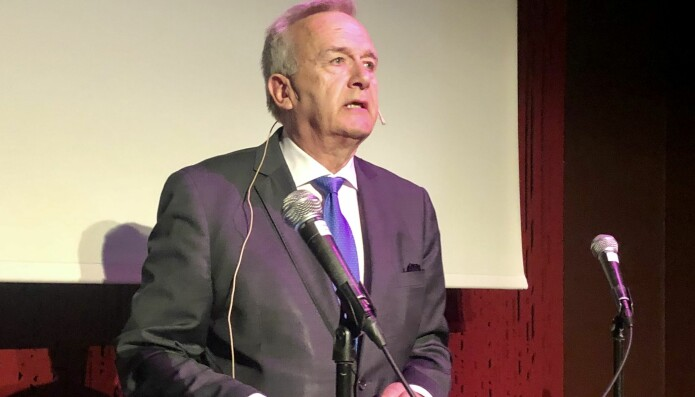 Riksadvokat Tor-Aksel Busch deltok i dag på det som sannsynligvis blir hans siste rettspolitiske seminar i samarbeid med Advokatforeningen. Foto: Baard Amundsen