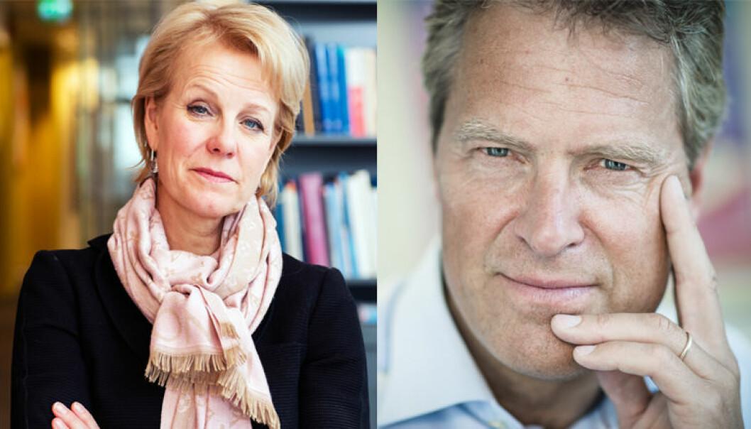 Advokatforeningens generalsekretær Merete Smith og leder Jens Johan Hjort. Foto: Monica Kvaale/Henrik Evertsson