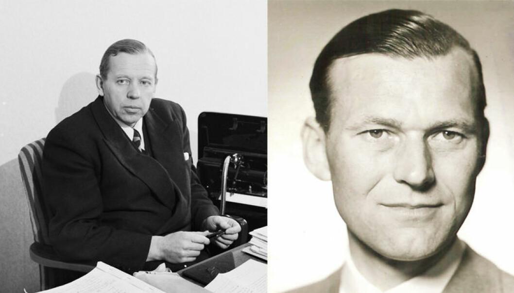 Erling Wikborg (t.v) etablerte selskapet i 1923, og i 1947 inngikk han kompaniskap med Alex Rein.