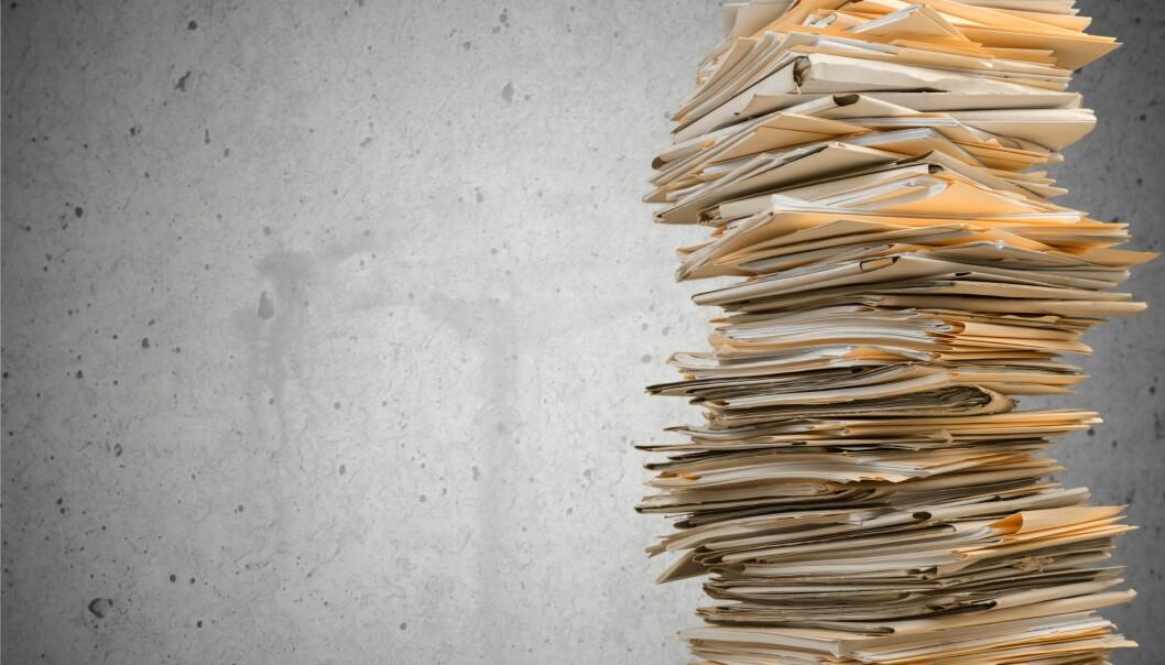 Dersom kjennelsen blir stående, må navn og personlig informasjon strykes i 33.000 dokumenter. Illustrasjonsfoto: Artisteer, Istockphoto