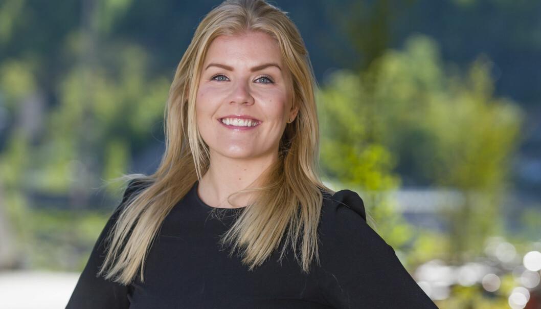 Simonsen Vogt Wiig, her ved advokat Helene Hermansen, er et av de nominerte firmaene til Talentprisen 2019. Foto: Geir Egil Skog