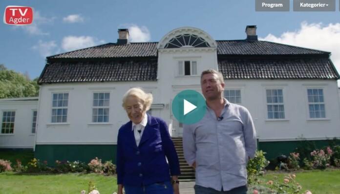 TV Agder gjorde intervjuet med Signe Marie Stray Ryssdal i august i fjor, og programmet ble vist i mars i år. Skjermdump fra TV Agder.