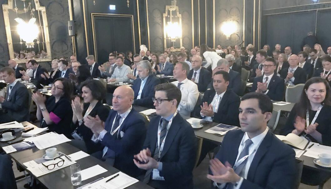 En rekke advokater innen maritim-sektoren er denne uken samlet på en IBA-konferanse på Grand hotell i Oslo. Foto: Henrik Skjevestad
