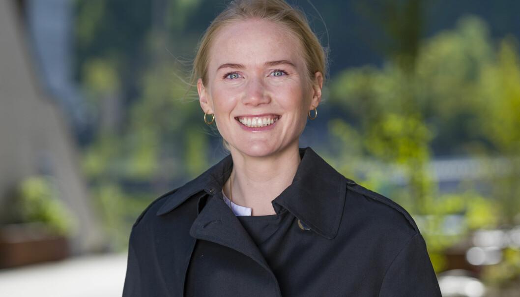 Ingeborg V. Aavatsmark er senioradvokat i Wikborg Rein som nå er nominert til Advokatforeningens talentpris. Foto: Geir Egil Skog