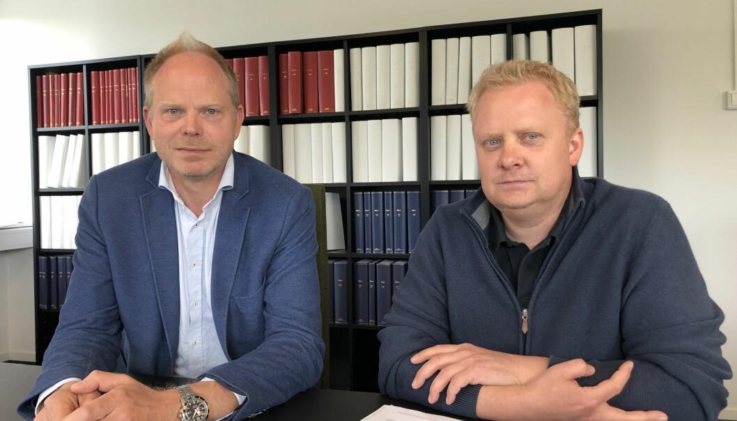 Assisterende direktør i Tilsynsrådet, Dag Eriksen, sammen med seniorrådgiver Jonas Haugsvold.