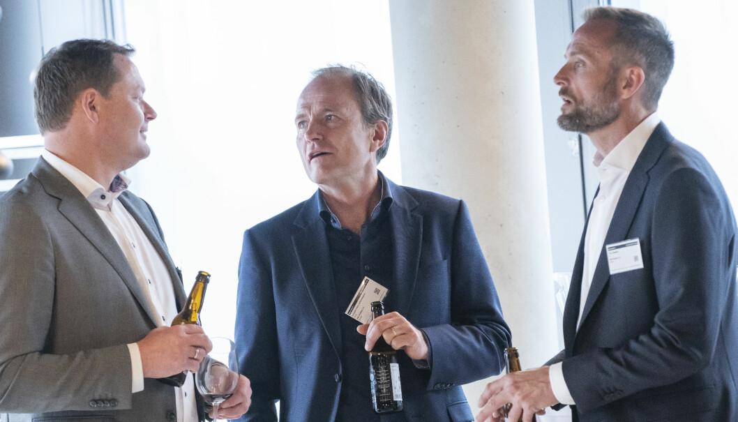 Kurt Weltzien, Christen Horn Johannessen og Tron Dalheim etter panelsamtalen.